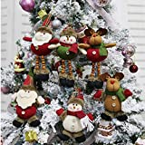 CDJX Adornos de Peluche de árbol de Navidad,6 Piezas 8 Pulgadas Decoración Colgante de Navidad...