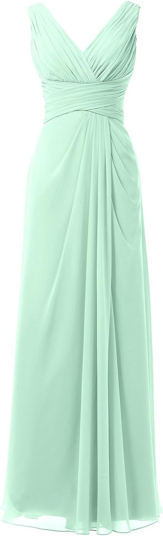 Alicepub ALine VNeck Bridesmaid Dress Ball Gown Women's Bridal Party Dress Maxi