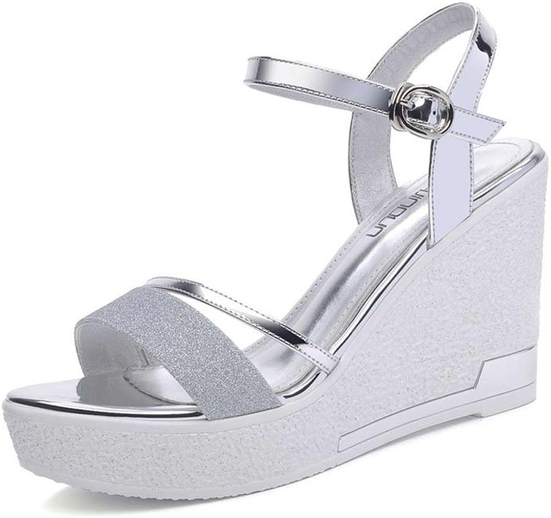 Sandales fraîches fraîches étanches à l 'eau, skor de haute couture (9,5cm de hauteur) (Färg  silver, Storlek  40)