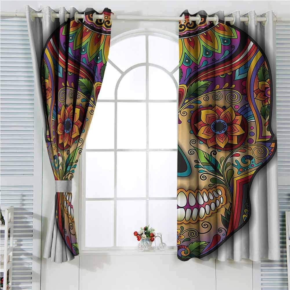 Multicolor Grommet Curtains 63 Inches Long アウトレットセール 特集 Day The Deco NEW ARRIVAL Dead Of