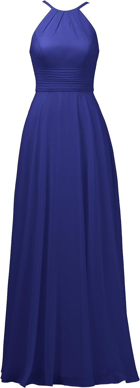 Alicepub Halter Formal Evening Dress Sexy Spaghetti Straps Bridesmaid Dress Long