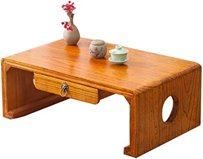 Wooden Coffee Table Simple Tea Table Laptop Table Working Table Breakfast Table Balcony Table (Color : B, Size : 60X40X30CM)