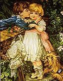 Set de bordado tapiz'First Kiss' 30x40cm set de bordado en punto de cruz.Incluyendo hilo de algodón multicapa cod.513