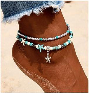 Chic Multistyle Damen-Fu/ßkettchen Fu/ßkettchen Beach Girl s Geschenk Fashion Schmuckk/ästchen I