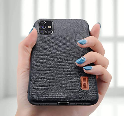 Annure Shockproof Soft Bumper Fabric Back Cover Case For Samsung Galaxy M31s Black Launch Offer