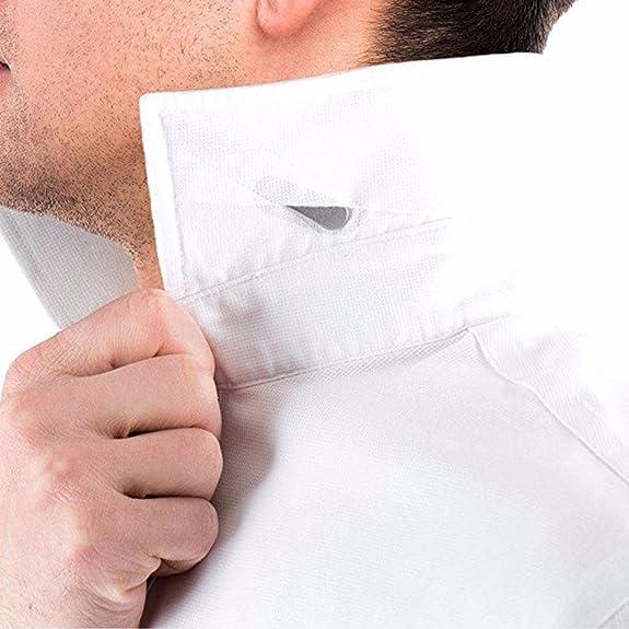 Aolvo 40 Refuerzos de cuello de metal refuerzos de cuello de camisa para hombres, el mejor regalo para el padre esposo, 4 tamaños mixtos (2.2 / 2.5 / ...
