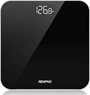 RENPHO Digital Bathroom Scale, Highly Accurate Body Weight Scale with Lighted Display, Step-On Technology, 400 lb, Black