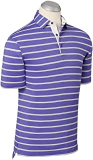 Bobby Jones Mens Performance Blend Stripe Golf Polo Shirt