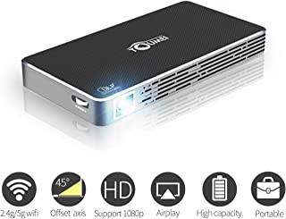 TOUMEI Mini DLP Smart Projector,Portable Android Video Projectors Home Theater Support HDMI,USB,TF Card,WiFi for iPhone,Mobile Phone,Laptop,MacBook,PC