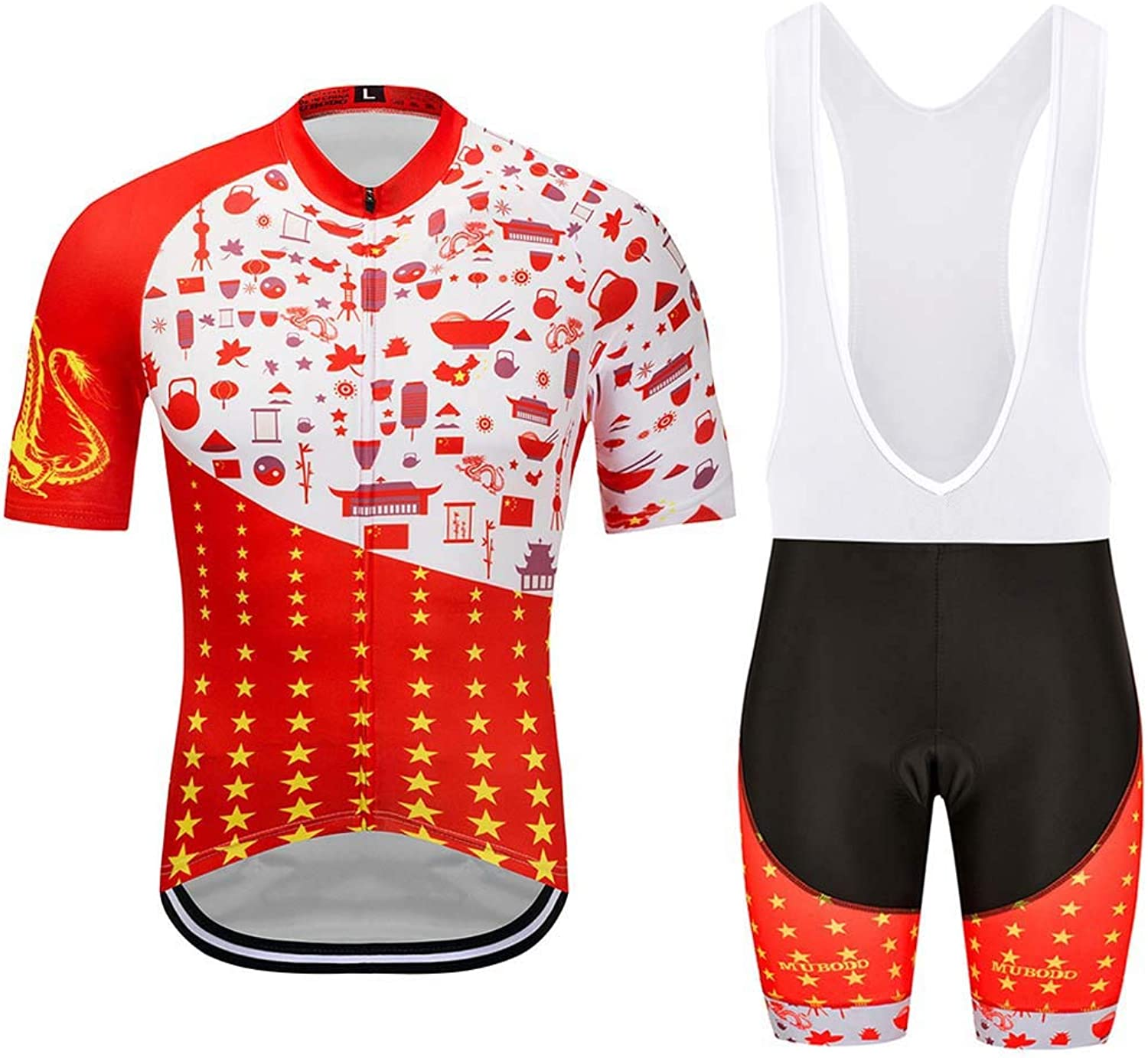 Jersey Men, Cycling Shorts Women Padded Quick Dry Waterproof Fitness Clothes, for Road Bicycle MTB Outdoor Sports,XS