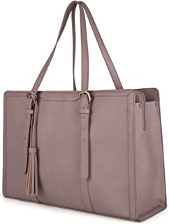 ECOSUSI Laptop Tote Fits Up to 15.6 Inch Briefcase for Women Office Handbags large Capacity with 3 Layer Compartments (Lilac)