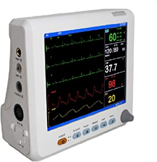 Fencia 8 Inch LCD Screen Inch Color Portable Patient Monitor with 6 Standard Parameter(Shipping from USA)