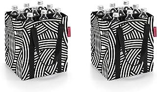 Reisenthel Lot de 2 sacs à bouteille avec porte-bouteilles Motif zèbre et zèbre
