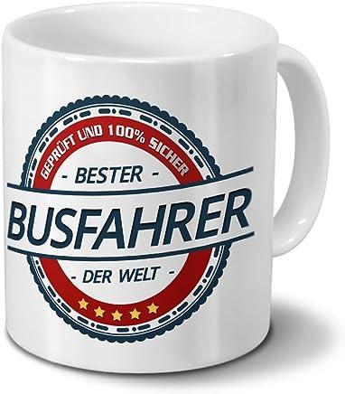 Preisvergleich für Tasse mit Beruf Busfahrer - Motiv Berufe - Kaffeebecher, Mug, Becher, Kaffeetasse - Farbe Weiß