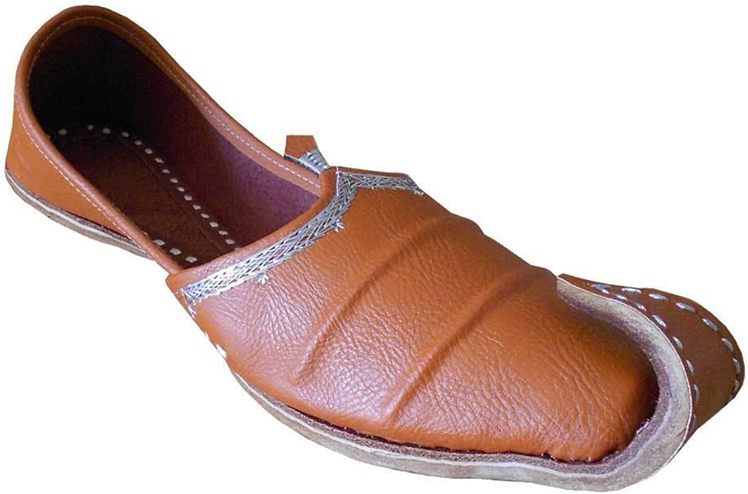 Kalra Creations Men's Traditonal Indian Faux Leather Casual shoes Brown