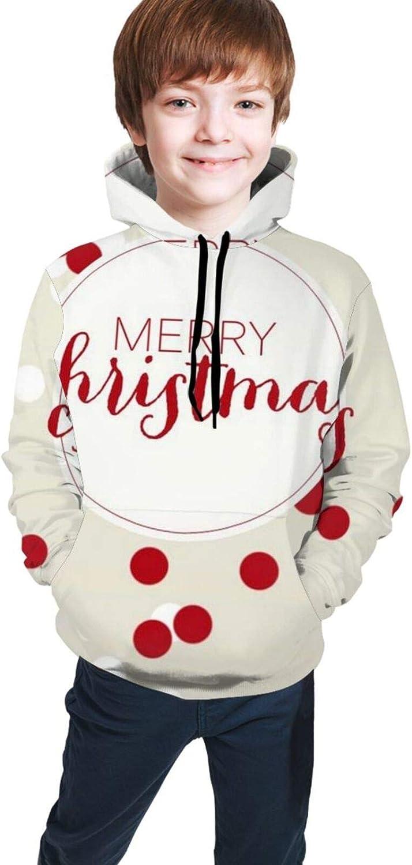LINCHENC Boys Girls Hoodie, Christmas Unisex 3D Printing Teenager Sweatshirt Kids Children's Sweater for Age 7-20