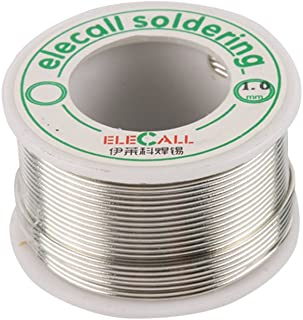 ELECALL Rosin Core Solder,Lead Free Solder 99.3% Tin Flux Iron Welding Tool 1.0mm Diameter Pocket Pack in Storage Tube for Electrical and Electronics DIY Work