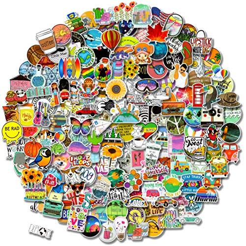 300 PCS Stickers Pack (50-850Pcs/Pack), Colorful Waterproof Stickers for Flask, Laptop, Water Bottle, Cute Aesthetic…