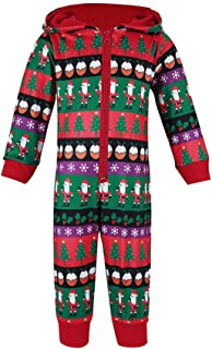 SoonerQuicker Pigiama Natalizio Famiglia Renne Zip Cosplay Baby Ragazzo Ragazza Pajamas Donna Uomo Natale Pigiami Interi Family Christmas Outfit Lungo Invernale