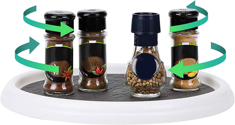 1 Especiero Giratorio, Bandeja Giratoria Cocina de Plástico Organizador de Cocina para Tarros de Almacenamiento y Especias (30 cm)