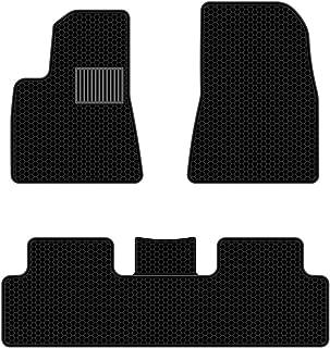 All Weather Waterproof Floor Mats Compatible for Tesla Model 3 - Heavy Duty - Black Rubber Environmental Materials Car Carpet Model 3 (3 Piece a Set)