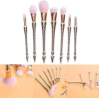 Crazy-store 7Pcs Spiral wand Diamond Make up Brushes Set Powder Foundation Contour for Adult Making up