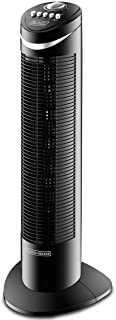 Black+Decker 50W 3 Speed Tower Fan with Timer and Oscillation, Black - TF50-B5, 2 Year Warranty