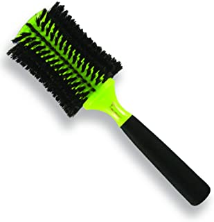 Monroe Glamour Round Styling & Finishing Brush: 100% Natural Bristles, PolyDynamic Core, Foam Handle - Pro