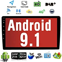 Android 9.1 10.1 Inch Touch Screen 2Din Car Multimedia Radio GPS Navigation in-Dash Car Stereo MP5 Player Autoradio with WiFi Bluetooth USB OBD (2G RAM+16G ROM)