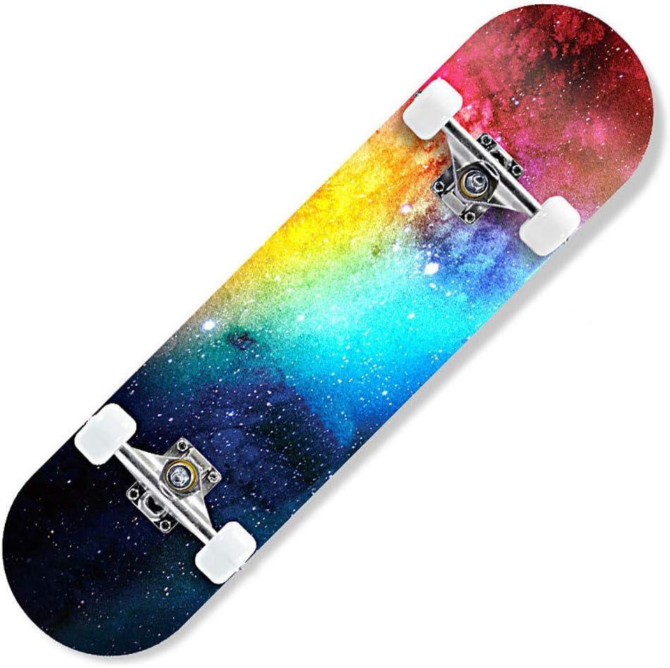 YeeWrr Flash wheel skateboard beginner men and women double warp maple adult youth professional skateboard birthday gift