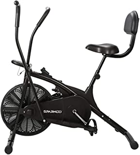 Sparnod Fitness SAB-05 Air Bike Exercise Cycle for Home Gym - Dual Action for Full Body Workout (Setting for Moving/Statio...