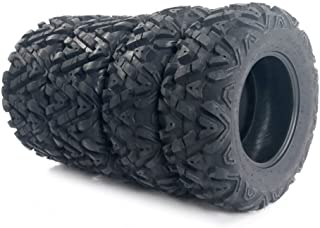 Motorhot Set of 4 All Terrain ATV UTV Tires 25×8-12 Front & 25×10-12 Rear 6PR Tubeless