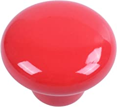 Camisin 1 stks Keramische Deur Ronde Handgrepen Keuken Kast Kast Garderobe Pull Knoppen rood S