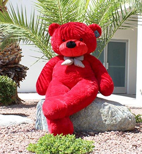 Joyfay großer Teddybär Riesiger Plüschbär Stofftier XXL Riesen Teddy (160 cm, rot), Weiche Geschenk Für Kinder Alters Geburtstag Hochzeit Valentinstag Weihnachten