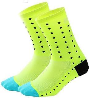 Compression Training Socks Cycling Socks Cycling Sports Socks Running Basketball Sweat Absorption Tube Socks Compression Socks Yellow