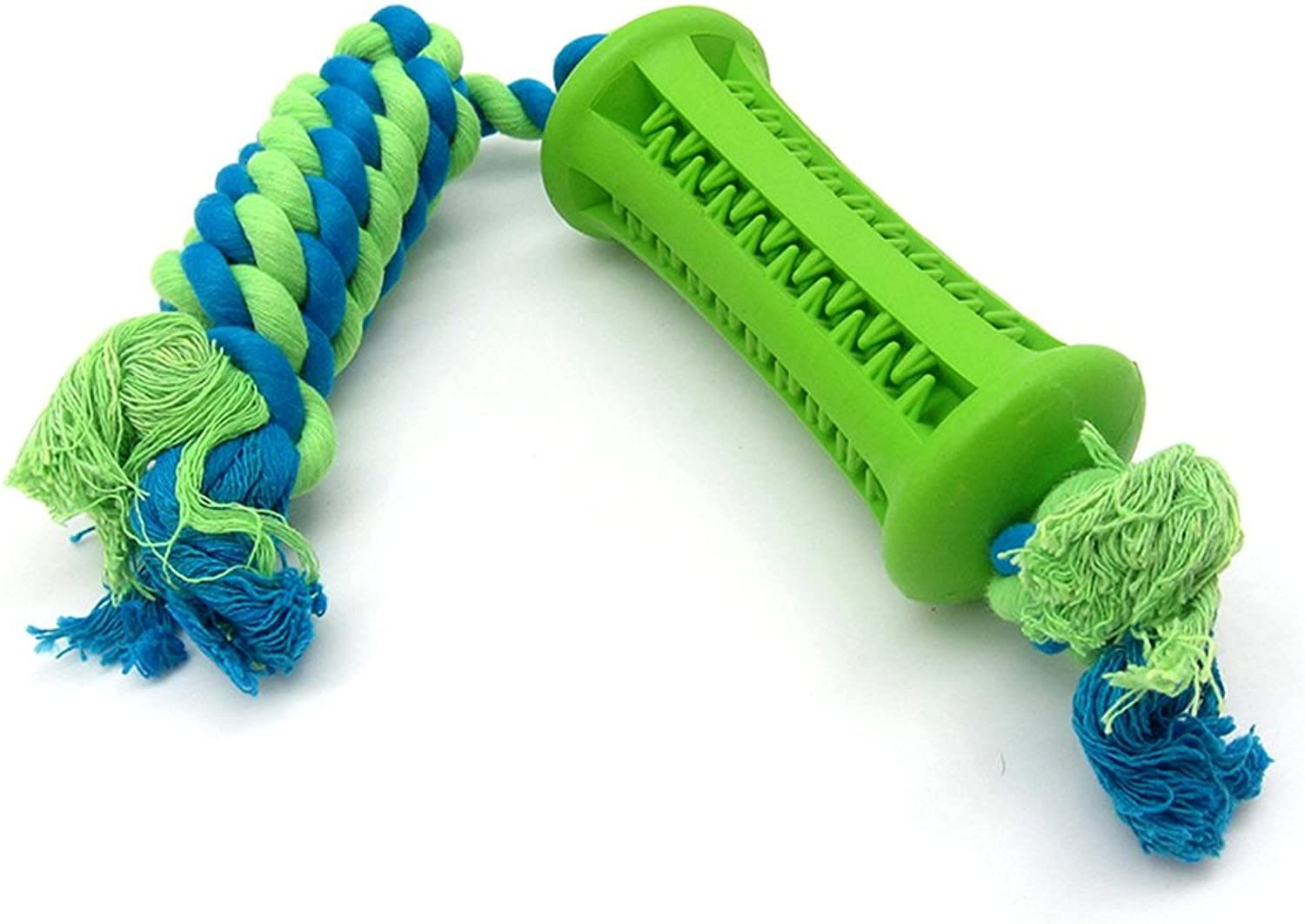 Dog Toy Rubber Bar with Rope for Dental Teeth Cleaning and Dog Treating Fits Small Dog, Bite Resistant and NonToxic