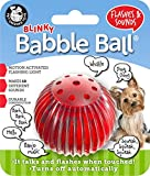 Pet Qwerks Blinky Babble Ball Interactive Dog Toys - Flashing Motion Activated Electronic Talking Ball, Lights Up & Makes Noise - Avoids Boredom & Keeps Dogs Active | for Small Dogs & Puppies