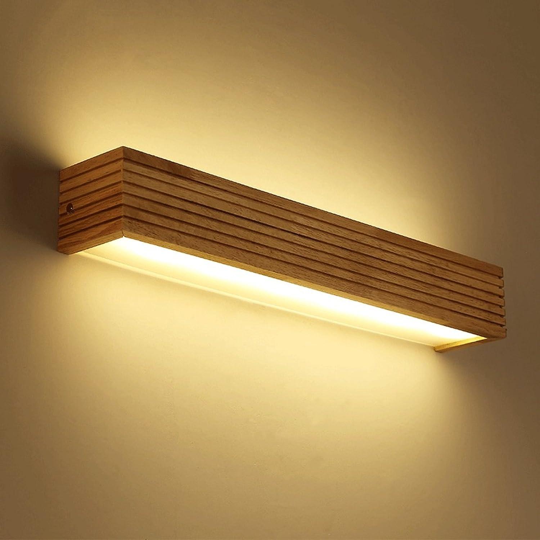 6 Watt   8 Watt   12 Watt-LED Massivholz Wandleuchte Schlafzimmer Nacht Wohnzimmer Kreative Rechteckige Wandleuchte 35 cm   45 cm   55 cm (design   2)