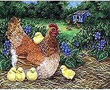 YRKFDG Rompecabezas de gallina y Pollo 1000 Piezas Juguetes educativos de Madera Iq Challenge Memory Fun Game Picture 50X75Cm