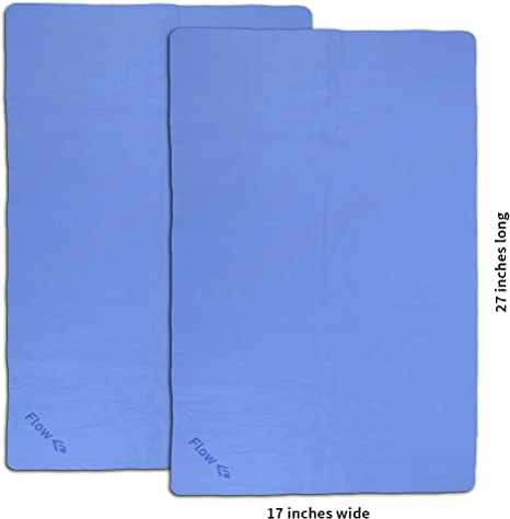 Flow Swim Towel 2-Pack and Camping Diving Quick Drying Cloth for Swimming Shammy Purple 26 x 17 Chamois