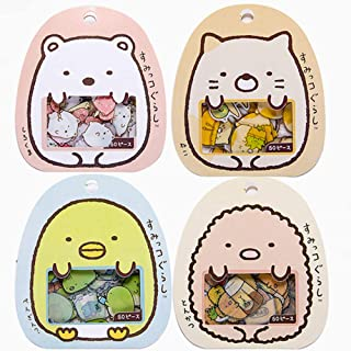 XinTX 4 Pack,200 Pieces Super Cute Cartoon Animals Transparent PVC Stickers for Diary Calendar Albums Decoration Scrapbook Planner Journal Child DIY Toy School Office Supplies