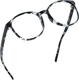 LifeArt Blue Light Blocking Glasses, Anti Eyestrain, Computer Reading Glasses, Gaming Glasses, TV Glasses for Women Men, Anti UV, Anti Glare (Gray, No Magnification)