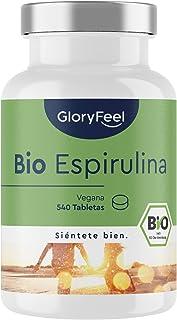 Ekologisk Spirulina, 540 Högkoncentrerade Tabletter, 3000 mg Spirulina per Daglig Dos, Certifierad Ekologisk och Vegansk, ...