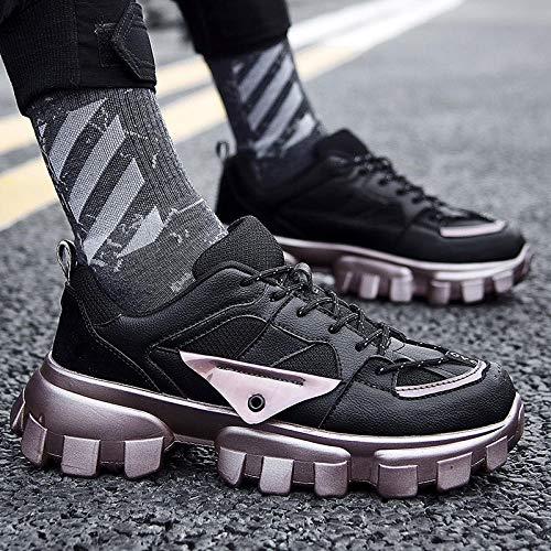 JFHGNJ Mannen Mode Schoenen Merk Trend Man Mode Sneaker Vulcanized Schoen-zwart_7