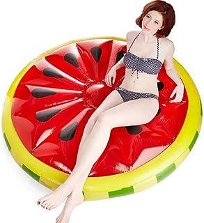 L.J.JZDY Airbeds swimmingpool flytande, uppblåsbar rund vattenmelon flytande rad, barns vattenleksak vuxen simning fritid ...