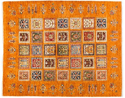 Lifetex.eu Teppich Samarkand ca. 195 x 160 cm Orange handgeknüpft Schurwolle Modern hochwertiger Teppich