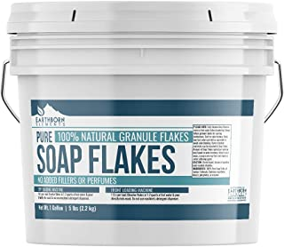 Pure Soap Flakes (1 Gallon (5 lbs)) by Earthborn Elements, Ingredient to Make Liquid or Powdered Homemade Laundry Detergent for Cleaning