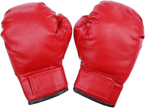 JINYIJUN Adulte Taekwondo Gants de Boxe Sanda Combat Combat Gants de Boxe pour Homme en Cuir Gants de Boxe Rouge