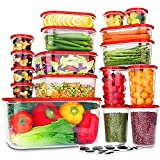 34 PC Food Storage Containers with Lids,...