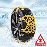AUTOGUARD Snow Chains, Easy to Install Universal Anti-Skid Tire Chain for Tire Width